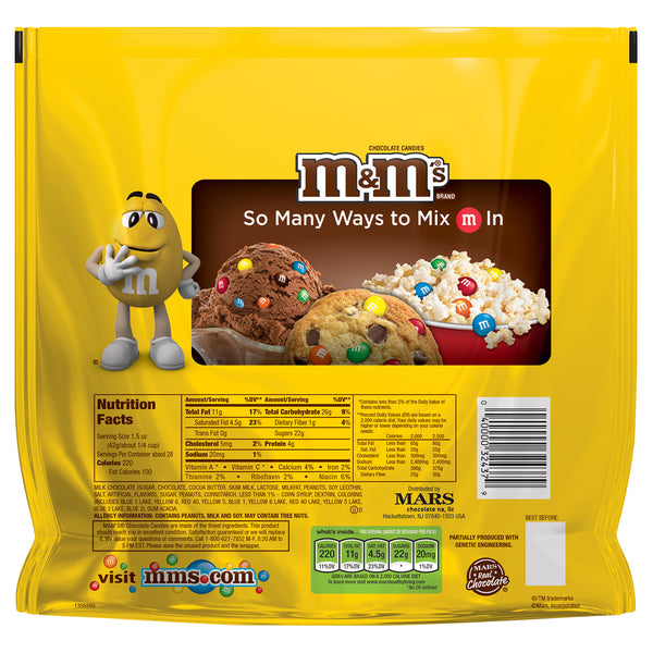 Back view of Peanut M&Ms Party Size bag
