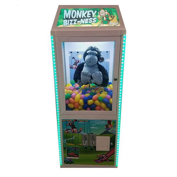 Monkey Bizz Ness Business Prize Skill Claw Machine product detail front view