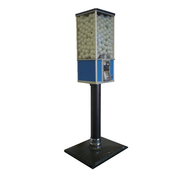 Northern Beaver golf and ping pong ball vending machine on stand