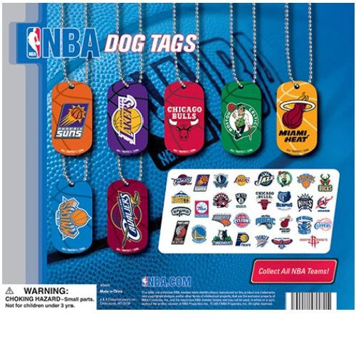 NBA Dog Tags Display Front