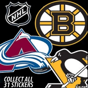 NHL Die Cut Logo Stickers Product Image