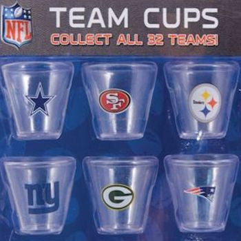 NFL Team Cups 2 Inch Toy Capsules