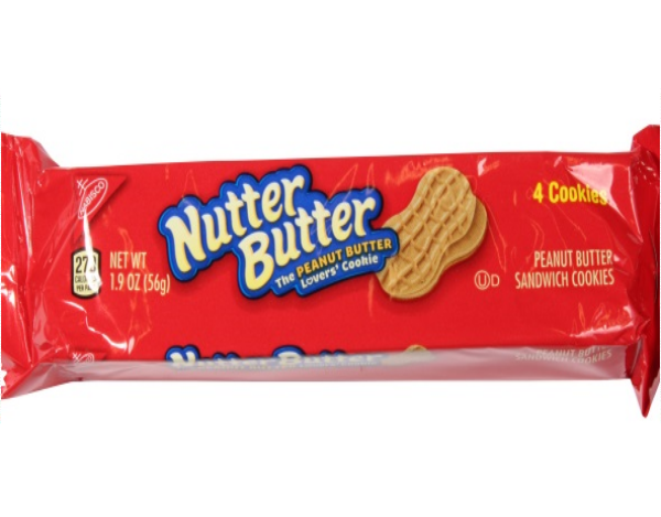 Nutter Butter Peanut Butter sandwich cookies front of 1.39 oz pack