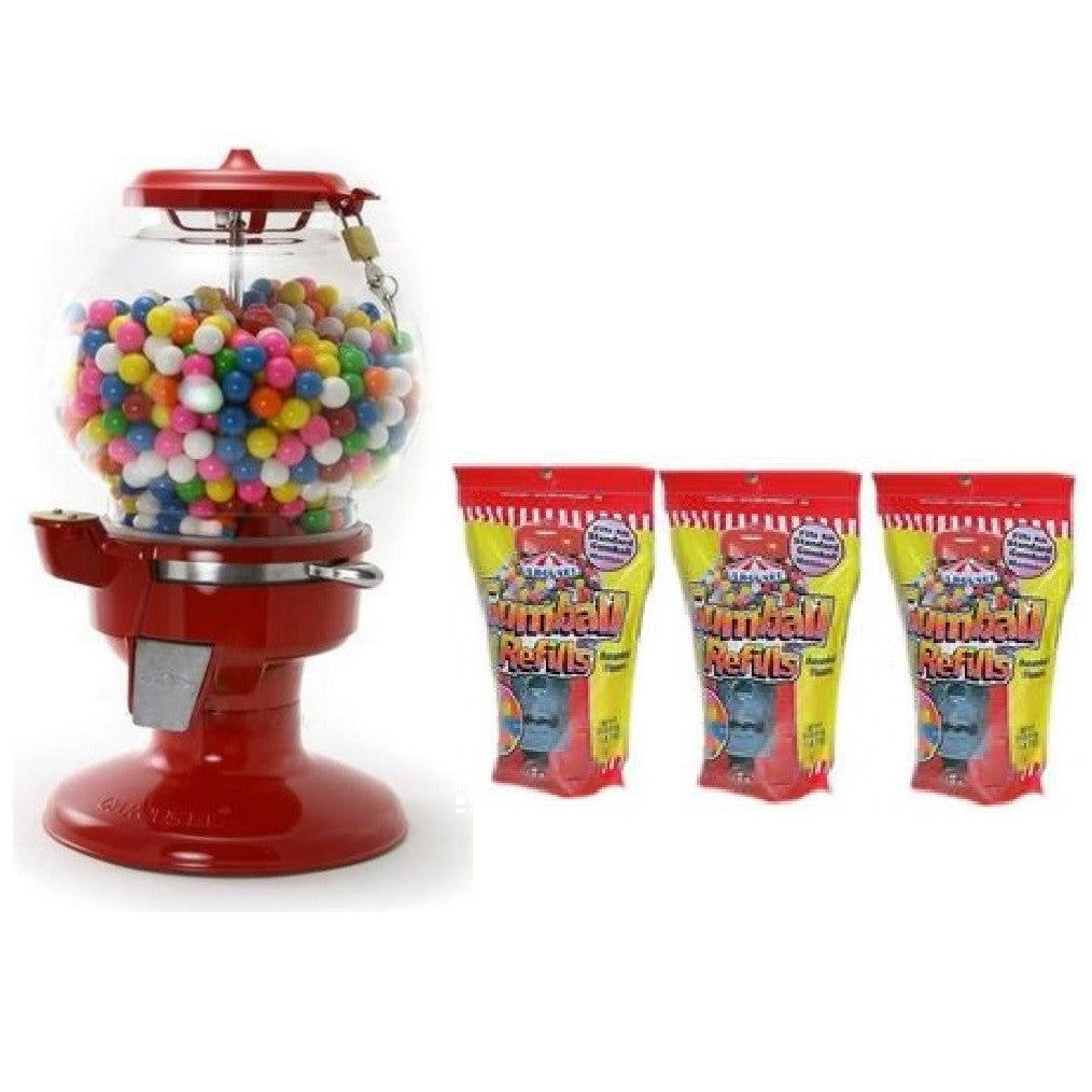 Old Columbia Gumball Machine & Gumball Refill Bags