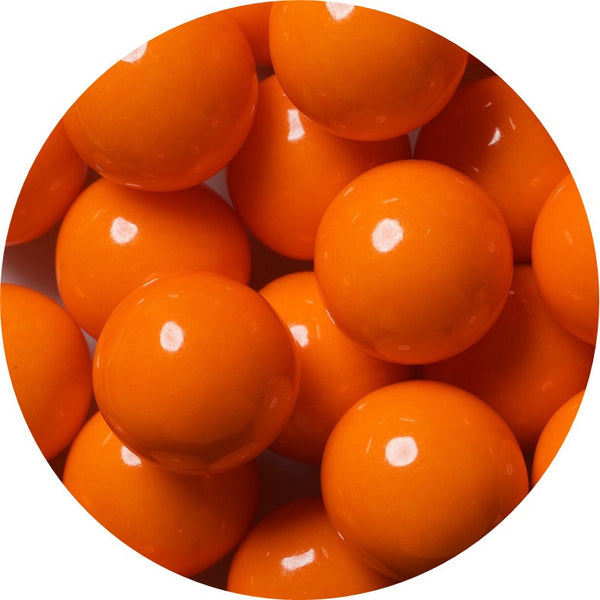 1-inch orange colored gumballs in 2 pound bag