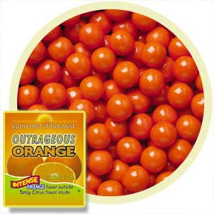 Outrageous Orange Gumballs