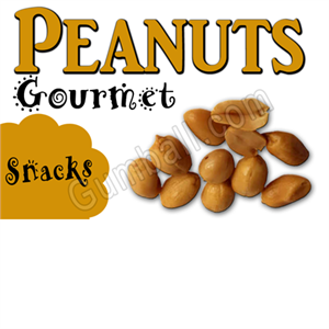 Peanuts Vending Label