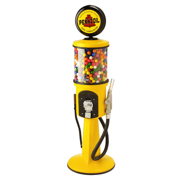 "4 2"" Pennzoil Replica Gas Pump Gumball Machine"