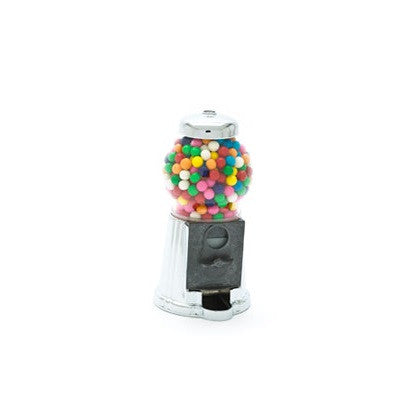 Petite size Chrome / Silver Retro Candy & Gumball Machine