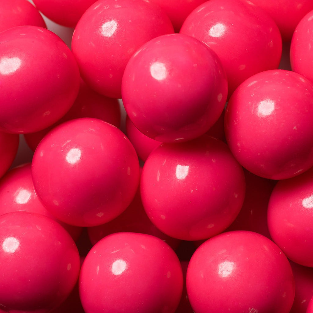 pink gumball machine with stand