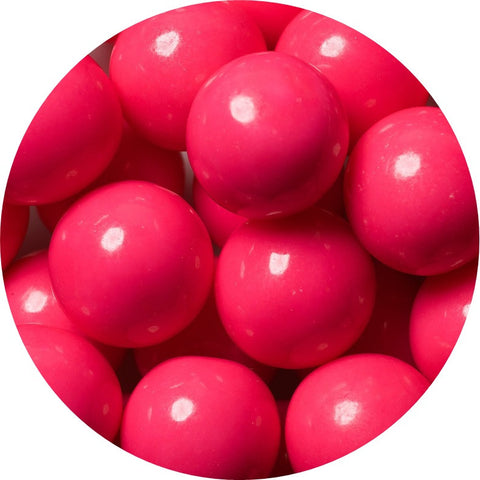 1-inch pink colored gumballs in 2 pound bag