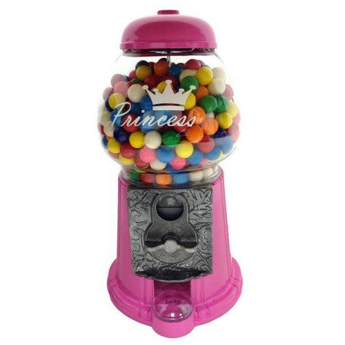 Front side view of Pink Princess Gumball Machine