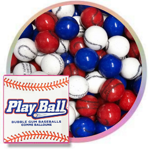 play ball baseball gumballs one inch 850 count