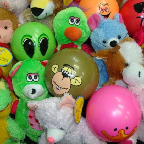 Plush and Cartoon Themed Ball Mix