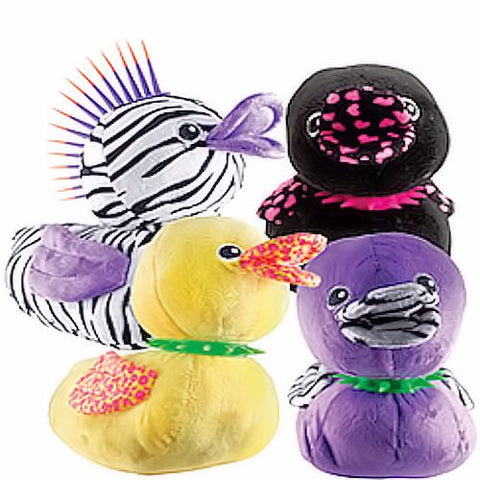 Punk Ducks Jumbo Plush Mix - 48 ct