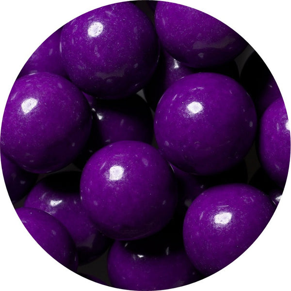 1-inch purple colored gumballs in 2 pound bag