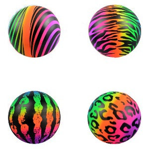 "6"" Vinyl Pattern Printed Rainbow Balls 100 ct"