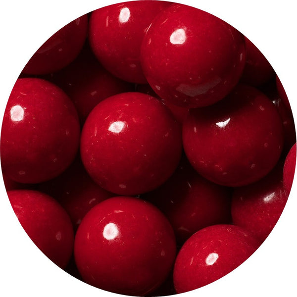 1-inch red colored gumballs in 2 pound bag