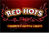 Red Hots Vending Label