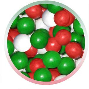 Red White & Green Gumballs