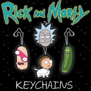 "Rick and Morty 2-D Figure Keychains 2"" Capsules Product Image"