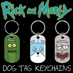 Rick & Morty Dog Tag Keychains 2 Inch Capsules Product Image
