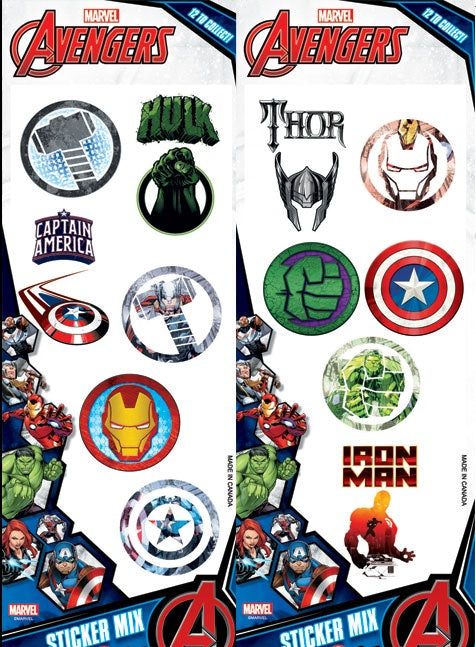 Marvel Avengers Stickers #4 display