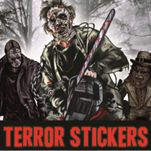 Terror Stickers #1 in vending folders