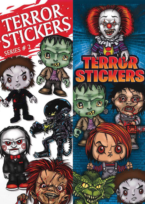 Terror Stickers #2 front and back display