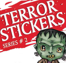 Terror Stickers #2 in vending folders