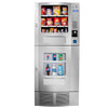 Front view of Seaga SM22 combo vending machine in silver