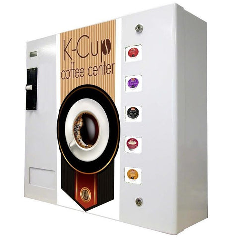 Left view of the SL5000 K-Cup coffee pod vending machine