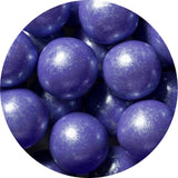 1-inch shimmer lavender colored gumballs in 2 pound bag