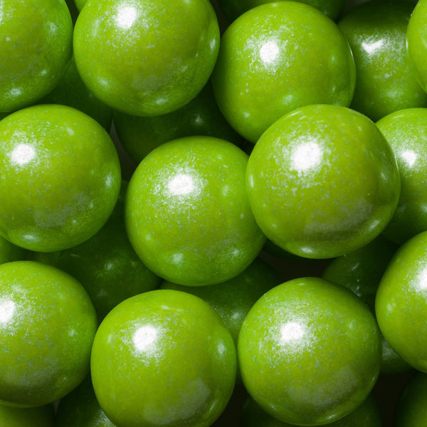 Shimmer Lime Green Gumballs 2 Pounds