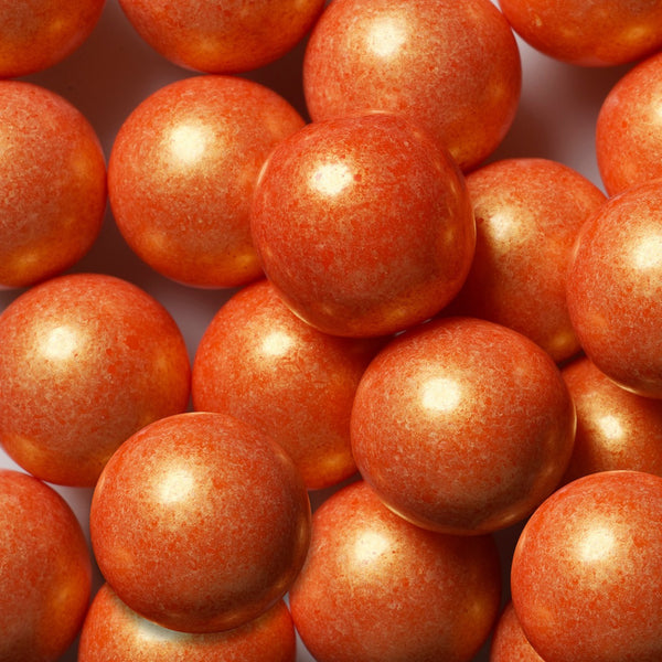 Shimmer Orange Gumballs 2 Pounds