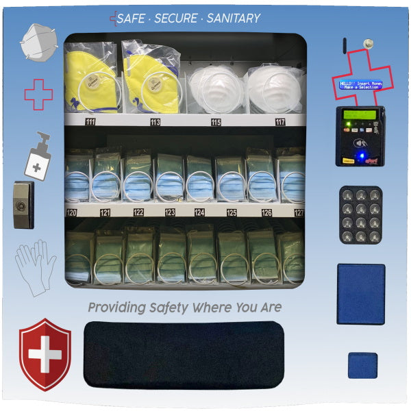 Seaga SM16 PPE Personal Protective Equipment Vending Machine Front View Product Image