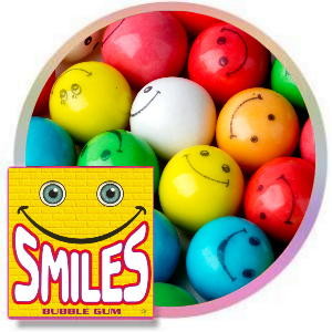 Assorted Smiley Face Gumballs