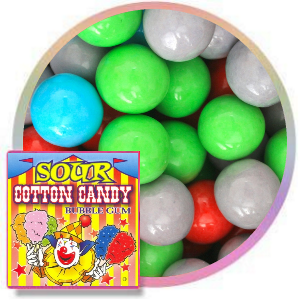 "Sour Cotton Candy Gumballs (1""/850 count)"
