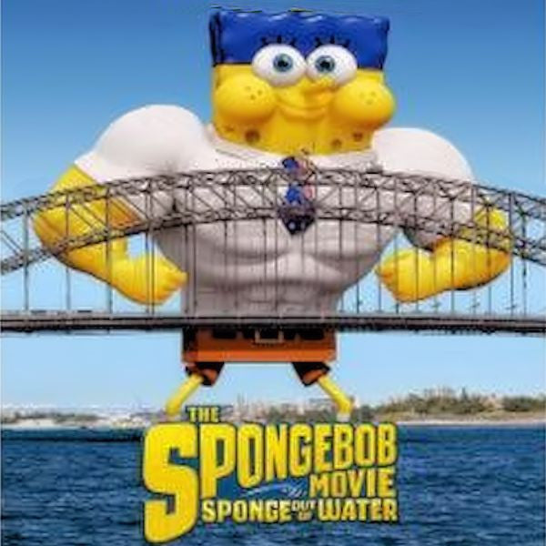 SpongeBob movie poster center image