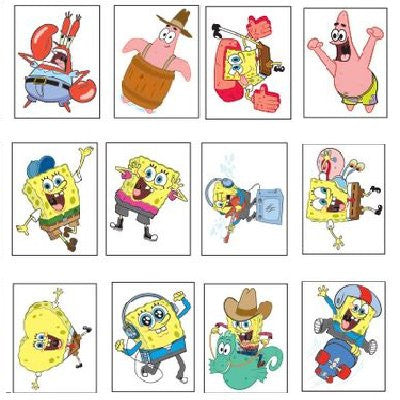 SpongeBob SquarePants Mini Tattoos bulk 2400 ct