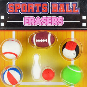 "Sports Ball Erasers 1"" Capsules Product Image"