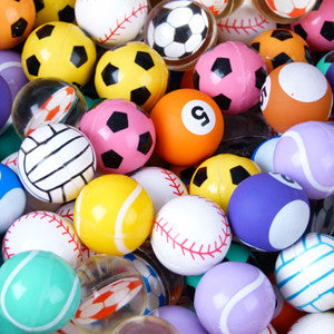 27 mm Sports Mixed Bouncy Balls