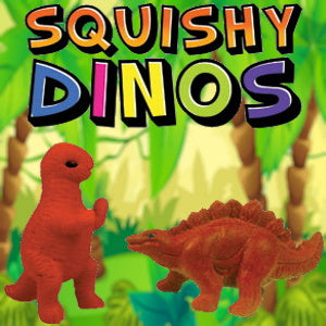"Squishy Dinos 1"" Capsules Product Image"