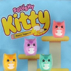 "Squishy kitties Pencil Toppers in 1"" Capsules"