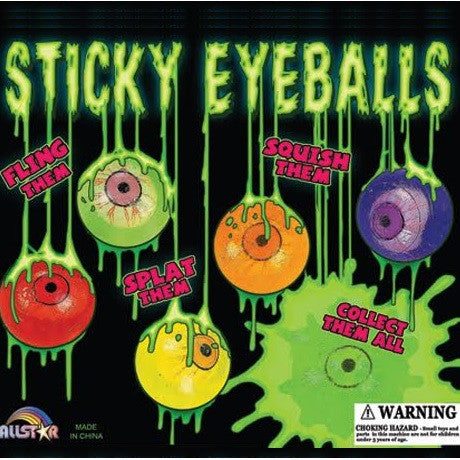 Sticky Eyeballs 2 Inch Toy Capsules