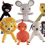 Animal String Dolls Small Plush Mix - 72 ct
