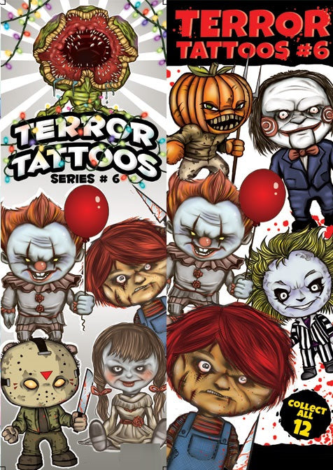 terror vending tattoos series six spooky scary horror product detail