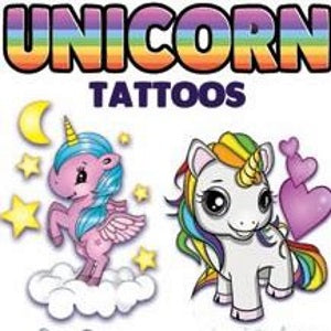 unicorn vending tattoos in cardboard folders 300 count