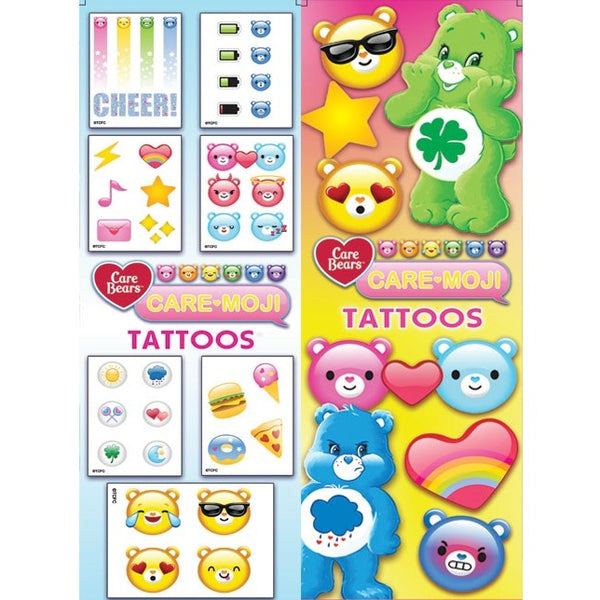 Care Bear Emoji Tattoos display front and back
