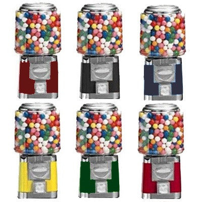 Color options for Titan vending machine: maroon, black, blue, yellow, green and red